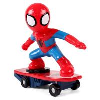 玩具蜘蛛侠儿童遥控特技滑板车充电无线汽车男孩礼物3-6周岁 抖音