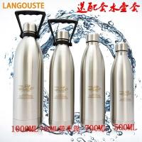 超大容量 不锈钢运动水壶 真空户外保冷保温水杯 可乐瓶