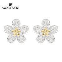 SWAROVSKI/施华洛世奇  TOUGH FLOWER花朵造型穿孔耳钉耳环 5136838