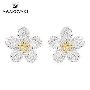 SWAROVSKI/施华洛世奇 情人节礼物  TOUGH FLOWER花朵造型穿孔耳钉耳环 5136838