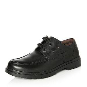 Teenmix/天美意2018春专柜同款打蜡牛皮方跟系带鞋男单鞋64K03AM8