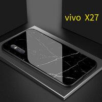 vivox27手机壳X21玻璃壳X9S女款ins冷淡风大理石纹x20网红潮牌x7plus步步高x21 X27 黑色大理