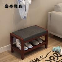 实木北欧换鞋凳鞋柜可坐储物简约现代穿鞋沙发凳子门口鞋凳式收纳