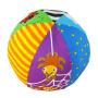 LALABABY/拉拉布书 启智布球 内置摇铃铃铛 0-3岁婴儿手抓球 布玩 六面球