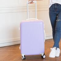 行李箱女拉杆箱旅行箱学生皮箱子密码箱24寸26寸万向轮韩版小清新 防刮款熏衣紫 20寸