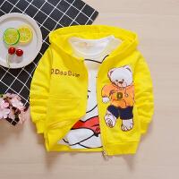 童装秋季宝宝外套男童女童儿童0-1-2-3岁薄开衫6个月婴儿秋装上衣qg