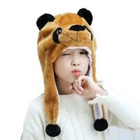 儿童兔子老虎动物帽子表演道具演出头饰毛绒动物头套幼儿园
