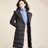 梵希蔓羽绒服女中长款2018冬装新款韩版宽松白鸭绒暖