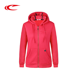 赛琪连帽运动卫衣女2017秋季新款保暖透气加厚开衫外套时尚上衣女