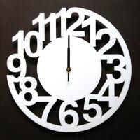 大挂表静音简约艺术数字钟表 挂钟客厅创意个性时钟