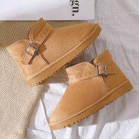 冬季加绒加厚雪地靴女保暖雪地棉鞋短靴学生韩版短筒马丁靴子