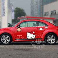 kitty车贴女人 hellokitty汽车贴纸 可爱搞笑反光拉花 整车