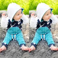 ins儿童卫衣套装春秋男童女童秋装宝宝薄款两件套外出衣服0-1-2岁