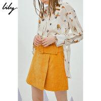 【此商品参加限时秒杀,预估到手价99元】SMART系列Lily春新款女装灯芯绒裙裤休闲裤118340C5226