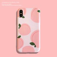 小清新iPhone6s/7/8plus手机壳苹果 max保护壳xr日韩软壳女款粉
