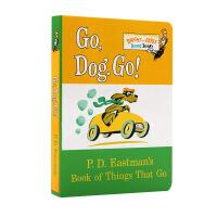 苏斯博士纸板书系列:跑,小狗,快跑!现货英文原版 Go, Dog. Go! PD Eastman 儿童纸板书 Dr. S