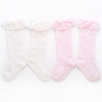 女童中筒袜过膝全棉蕾丝花边公主袜舞蹈宝宝婴儿长袜子夏季