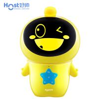 好帅 智能机器人翻译器 学习机儿童机器人 早教故事机玩具管家对话陪伴英语小胖豆乐 萌黄Q8