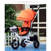 儿童三轮车宝宝脚踏车手推车带蓬1-3-5岁小孩自行车