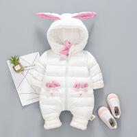 新生儿冬装女0一3个月婴儿衣服1周岁男宝宝冬季加厚连体衣外穿潮6