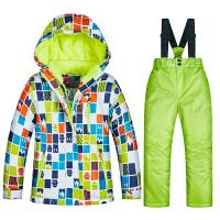 儿童滑雪服套装男童女童保暖防水冬季户外孩子东北滑雪装备