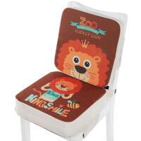 20191209111234370卡通儿童餐椅增高坐垫小学生坐垫宝宝安全椅垫座椅加厚加高椅子垫 棉麻布