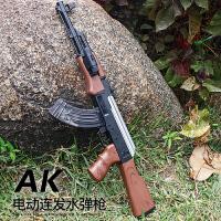 儿童狙击步抢98K玩具男孩仿真手动下供ak47可发射软蛋