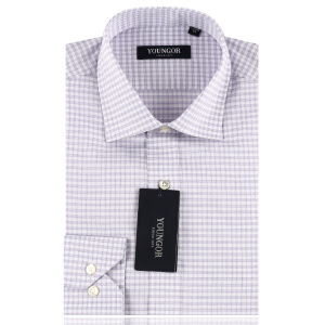雅戈尔旗舰店衬衣男新款正装纯棉免烫长袖衬衫DP14751-33专柜正品