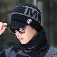 男士帽子冬天保暖毛线帽冬季青年户外骑车针织帽