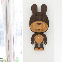 创意钟表挂钟客厅现代欧式卧室静音个性儿童挂表装饰壁钟 14英寸