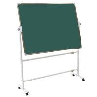支架式可移动带轮子教学黑板90*120双面磁性黑板绿板白板