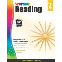 Spectrum Reading Workbook, Grade 4 英文原版 Spectrum 阅读,4年级