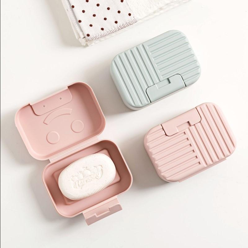 小香皂盒 迷 小号 便携 便携便携式婴儿肥皂盒 可爱 有盖卡通家居
