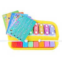 宝丽小木琴手敲琴婴儿幼儿童宝宝音乐玩具1-2岁3八音敲琴玩具 抖音 +动物农场琴