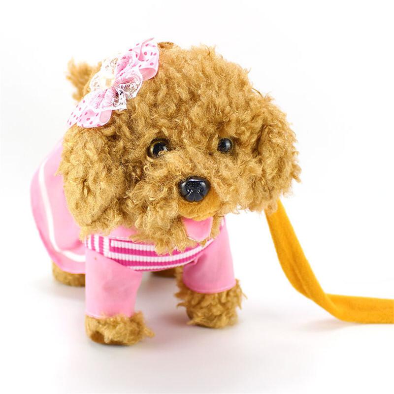 玩具狗狗走路会唱歌仿真电动电子狗调节音量智能牵绳狗 发货周期:一般在付款后2-90天左右发货,具体发货时间请以与客服协商的时间为准