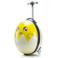?蛋壳箱卡通行李箱可爱宝宝登机箱儿童拉杆箱旅行箱包16寸男女 16寸蛋壳拉杆箱发光轮