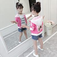 女童洋气外套薄款公主长袖韩版新款时尚短款春夏装儿童防晒衣