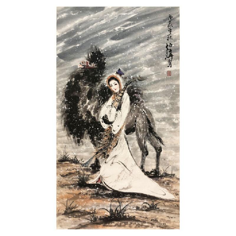 白伯骅《雪中行驼》著名人物画家