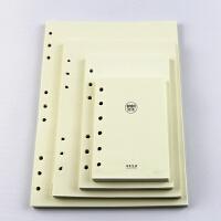 活页笔记本替芯 环保约横线内页纸95张9孔B5 6孔A5 A6 B7 16k=B5 9孔替心
