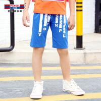 【3件2折价:31.8】铅笔俱乐部童装2019夏季男童短裤中大童运动短裤儿童休闲五分裤