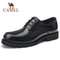 camel骆驼男鞋 秋季新款男士商务正装皮鞋系带低帮鞋休闲皮鞋