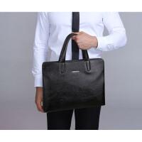 新款男包商务包男士户外手提包包电脑包横款公文包男式皮包
