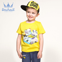 【特惠款】1水孩儿品牌童装夏装新款男童时尚素色基础款圆领衫百搭T恤背心AOAXK304