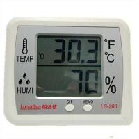 朗迪信LS-203大屏幕电子温度计家用室内温湿度计温湿度表