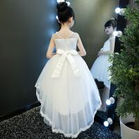 女童夏装蓬蓬纱连衣裙六一小女孩拖尾裙子儿童洋气公主裙