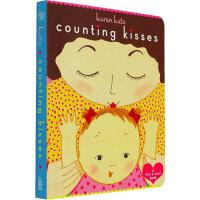 儿童英文原版绘本 Counting Kisses 数亲亲 Board Book 数数有多少吻 纸板书 凯伦・卡茨 Ka