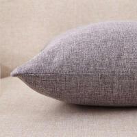 纯色亚麻正方形抱枕沙发靠垫套含芯不含芯40x4045x4550x50尺寸