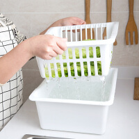 双层水槽碗碟架厨房收纳盒水池放碗架子塑料盘子沥水架碗架置物架