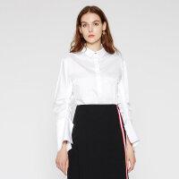 【3件2.5折到手价:66.25】纯棉MECITY女装大袖子优雅好搭白衬衫长袖