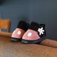 秋冬季雪地靴儿童鞋子1-3岁男女童加绒保暖婴儿软底防滑宝宝棉鞋
